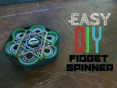 HOW TO MAKE THE EASIEST D.I.Y FIDGET SPINNER!!!!!