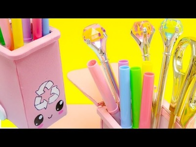 KAWAII pencil holder\easy organization idea to make your desk cute.