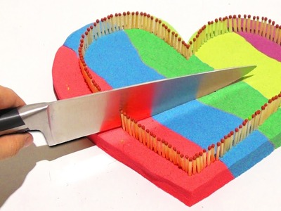 Kinetic Sand Big Heart 1000 Degree Knife Learn Colors DIY Foam Clay Play Doh Surprise Eggs