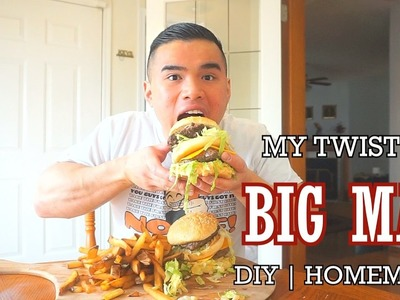MY TWIST ON BIG MAC | MUKBANG | DIY HOMEMADE | QT