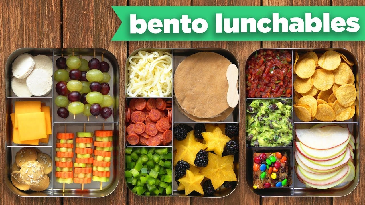 NEW Bento Box Healthy Lunches – DIY LUNCHABLES! - Mind Over Munch