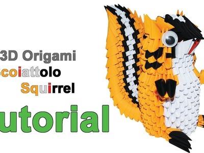 ORIGAMI 3D - SCOIATTOLO. SQUIRREL - TUTORIAL HD