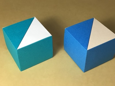 Origami Gift Box with One Sheet of Paper - Easy Origami Box Tutorial | 300x400