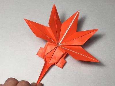 Origami Maple Leaf Tutolial. Canadian Maple Leaf