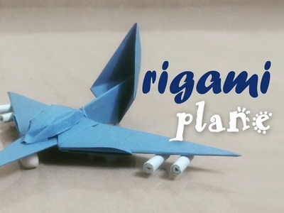 Origami Plane - 4 Piece 3D Origami Plane for Kids