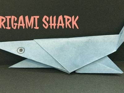 Origami shark - cool origami shark - origami easy tutorial