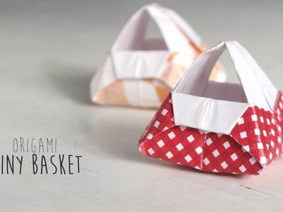 Origami Tiny Basket