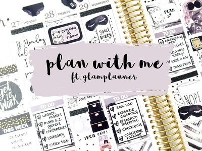 Plan With Me - Case of the Mondays ft. Glam Planner