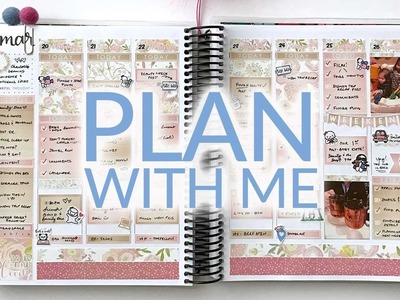 Plan With Me | Erin Condren Life Planner | KAD. Rose Gold Floral