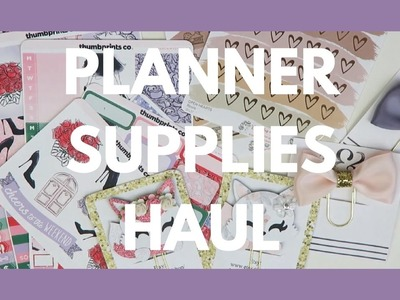 PLANNER SUPPLIES HAUL. Clips, Washi, Pens, and Etsy Stickers!