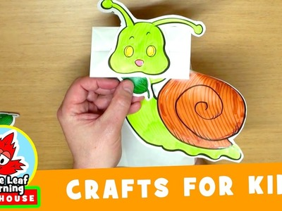 Snail Craft for Kids | Maple Leaf Learning Playhouse