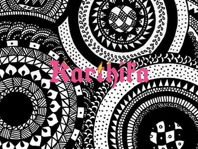 Zentangle Inspired Art ( Circular Patterns ) - Full Page Mandala - Timelapse | Karthika Loves DIY
