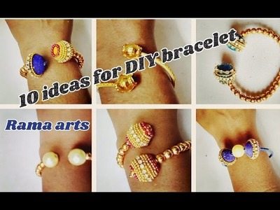 10 ideas for DIY bracelet | easy making | jewellery tutorials