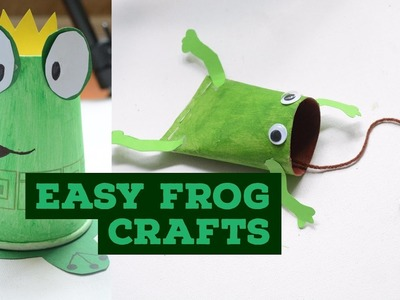 2 EASY FROG CRAFTS ???? -CraftyMip's Munchkin Masterpieces-Easy Kids Craft-