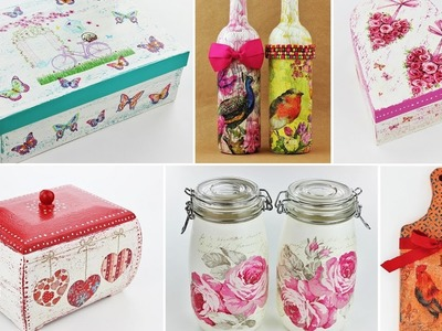 20 Ideas Decoupage Part 2 -  Fast & Easy Tutorials - DIY