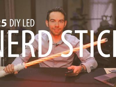 $25 LED Lightsaber Prop. Festival Totem. Flow Toy DIY Build