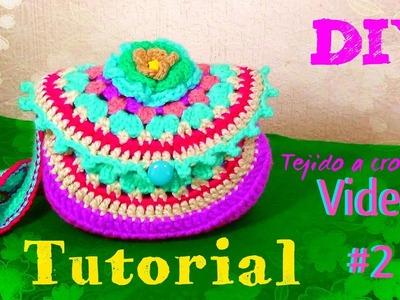 Bolsa en Granny circular- Tejida a Crochet - VIDEO #2