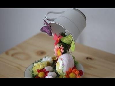 Build a floating tea cup centerpiece - Alice in Wonderland DIY