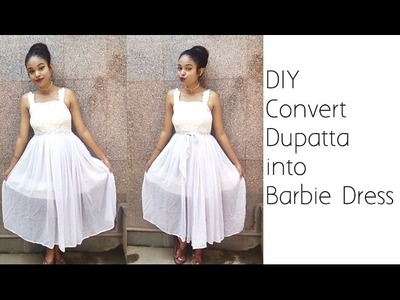 Convert Dupatta Into Barbie Dress | Barbie Dress Using Dupatta | D.I.Y