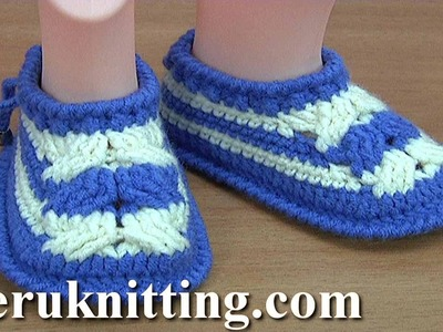 Crochet Baby Cable Stitch Shoes Tutorial 199 Preview