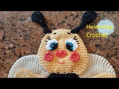 Crochet Bee Hot Pad Potholder Kitchen Towel Topper Part 2 of 2 DIY Video Tutorial