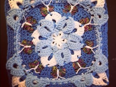 Crochet Snow Flower Block