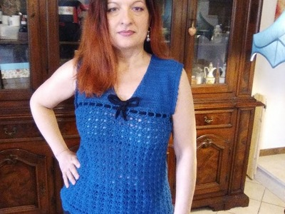 CROCHET TANK TOP all sizes BLOUSE EASY TUTORIAL