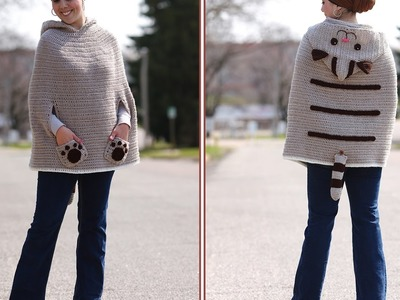 Crochet Tutorial: Kitty Cat Crochet Poncho
