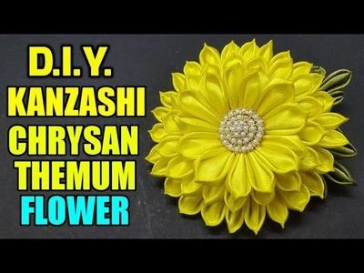 D.I.Y Kanzashi Chrysanthemum Flower | MyInDulzens