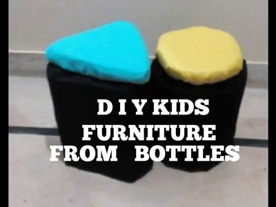 d i y kids craft furniture from recycled bottles