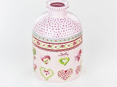 Decoupage bottle - Fast & Easy Tutorial - DIY