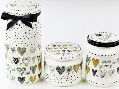 Decoupage jars - Fast & Easy Tutorial - DIY