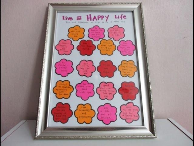 DIY : #172 Birthday Gift - Live A Happy Life ❤