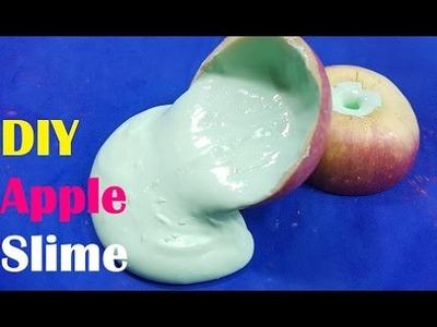DIY Apple Slime, How To Make Slime Apple!! Easy Slime
