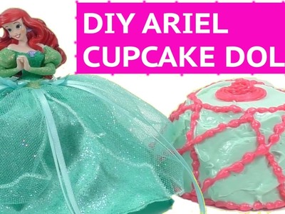 DIY ARIEL Surprise Cupcake Doll Gel-A-Peel | Disney Princess Surprise Toy Tutorial | How to make