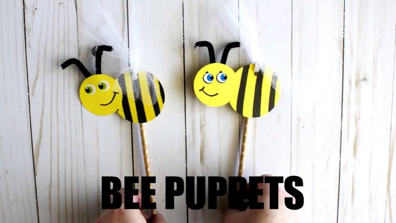 DIY Bee Puppet Craft for Kids