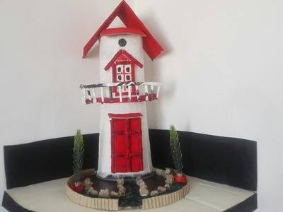 """DIY: Best Out Of Waste Stuff """"Tower House"""" TUTORIAL"""