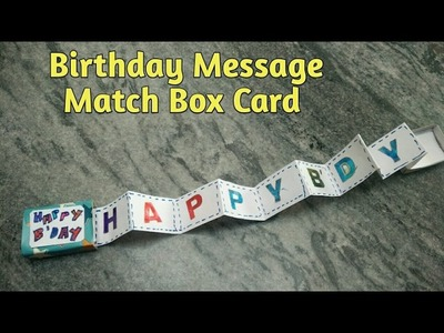 DIY Birthday Message Match Box Card | How To | CraftLas