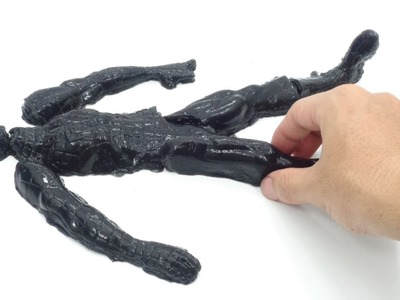DIY Black Spiderman! How To Make Human Jelly Pudding Cake Toys