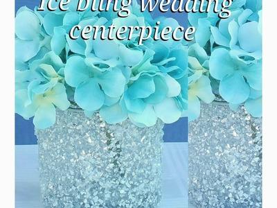 DIY| BLING GLASS FLOWER VASE. CANDLE HOLDER