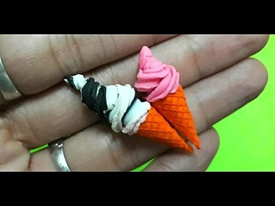 DIY - craft tutorial how to make miniature ice cream for your doll house
