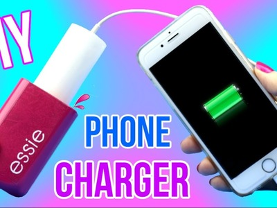 DIY Crafts: How To Make a Nail Polish Bottle Phone Charger! Easy Recycled DIYs - Cool DIY Project!