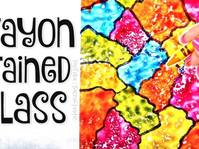 DIY CRAYON STAINED GLASS. Suncatcher Wax Paper Art How To - SoCraftastic