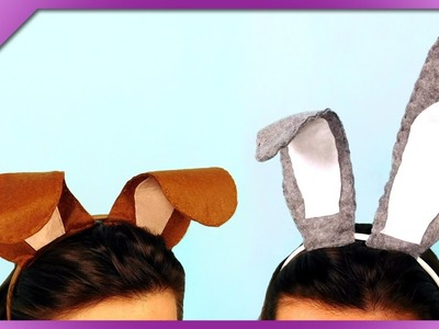 DIY Dog's and rabbit's ears, headbands (ENG Subtitles) - Speed up #341