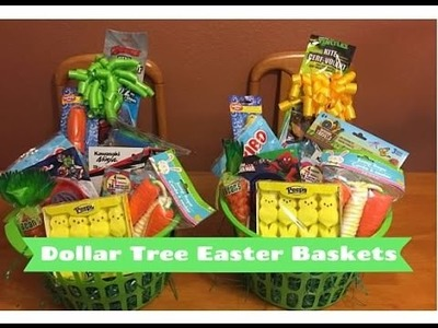 DIY Dollar Tree Easter Baskets!  |  Only $10 total!