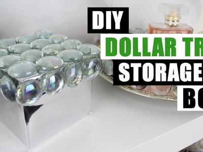 DIY DOLLAR TREE GLAM STORAGE BOX | Dollar Store DIY Bling Box | DIY Glam Room Decor
