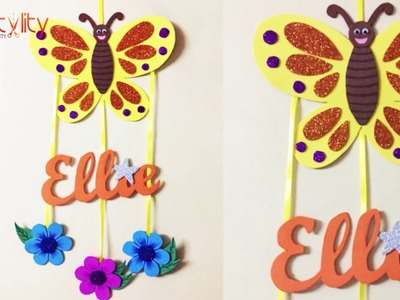DIY Door Name Plate for Kids Room | Foam Craft | Wall hanging | Kids Craft