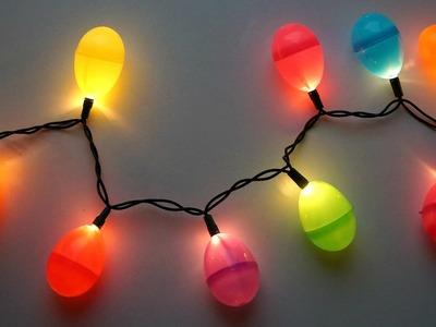 DIY Easter egg string lights
