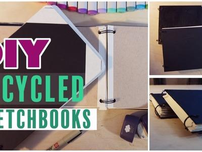 DIY Easy Recycled SKETCHBOOK!