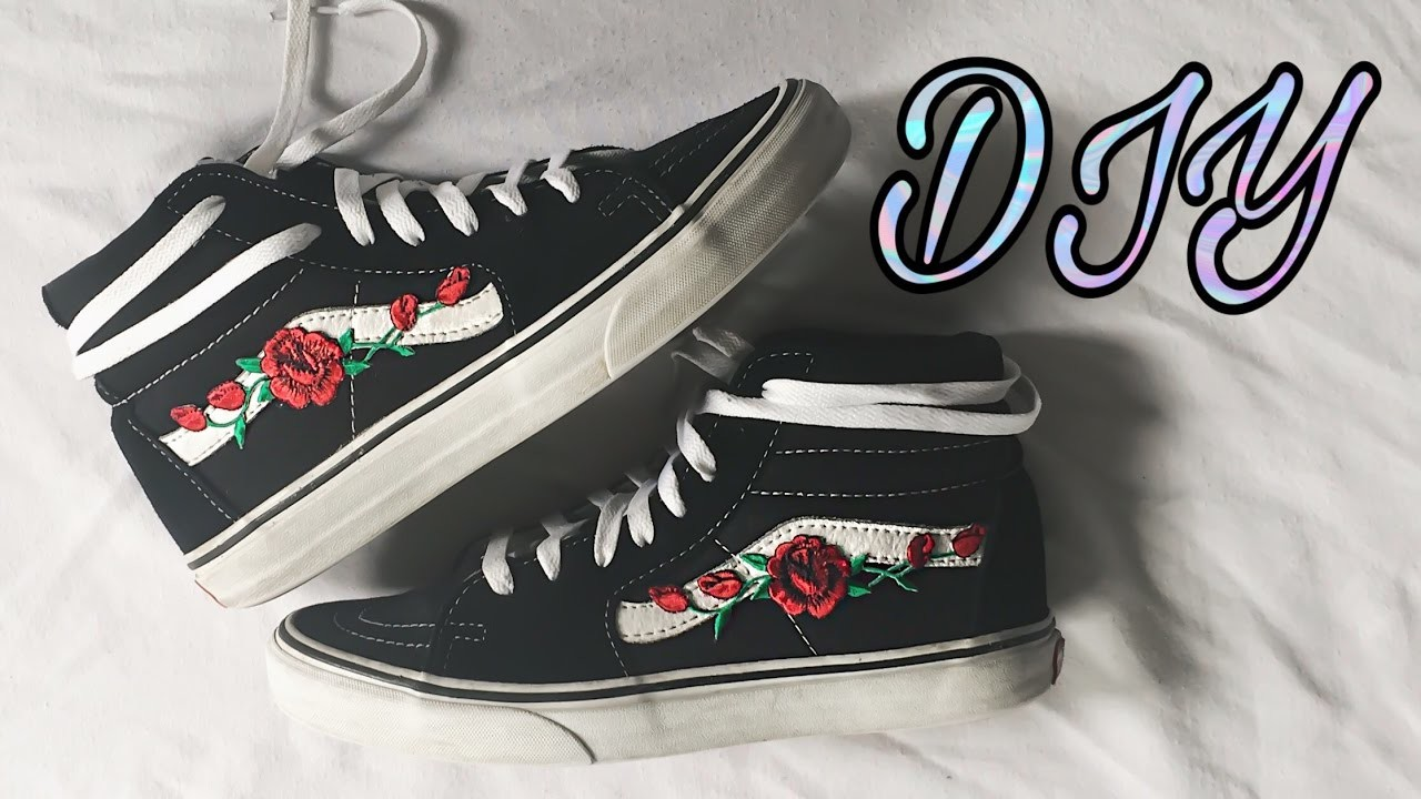 83e2c5f9f5b8 DIY EMBROIDERED ROSE PATCH VANS TUTORIAL